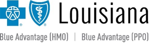 Logo for Blue Cross and Blue Shield of Louisiana Blue Advantage HMO and PPO products